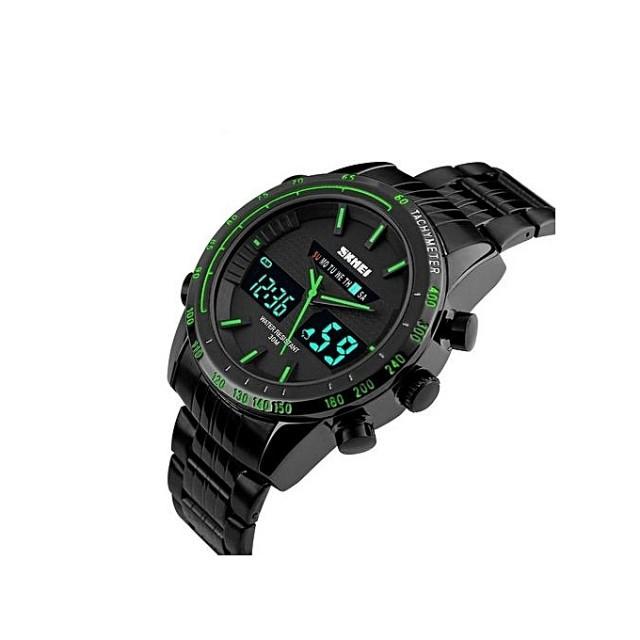 Мужские наручные часы Skmei 1131 Black-Green