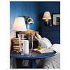 IKEA ARSTID (702.806.34) Настольная лампа, никелированная, белая - Фото