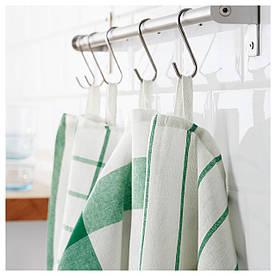 IKEA ELLY (402.777.65) Рушник кухонне, білий, зелений