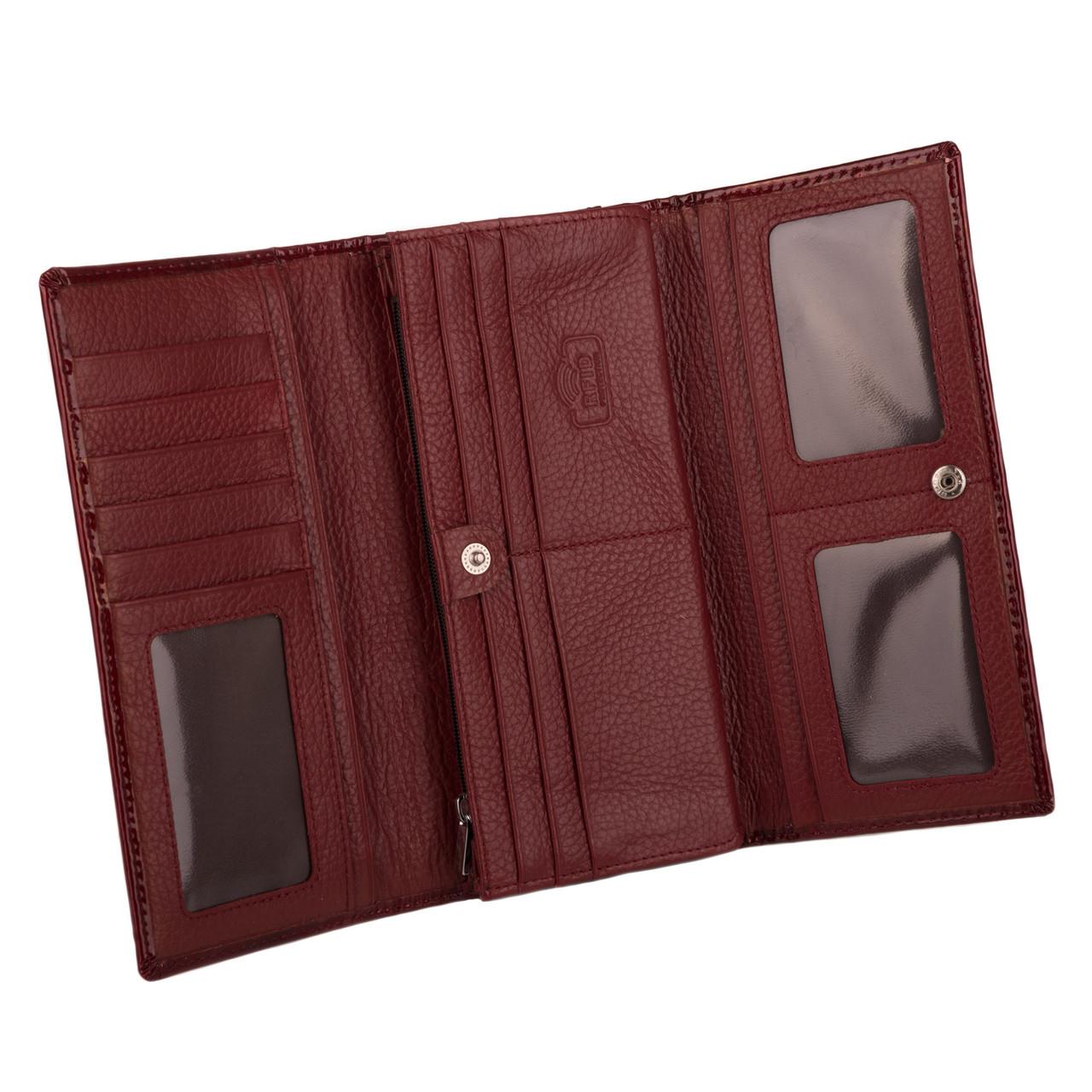 cb8bc2d23a63 Кошелек женский кожаный Kafa RFID AE031 красный: продажа, цена в ...