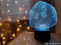 """Детский ночник - светильник """"Кубик"""" 3DTOYSLAMP"""