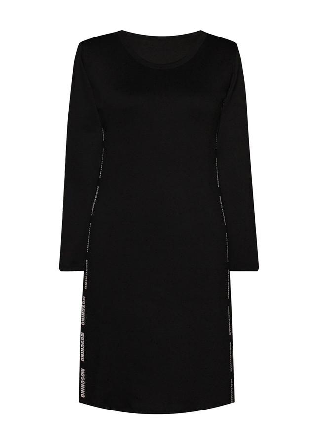 Платье с разрезами по бокам и круглым вырезом