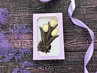 Шоколадный букет тюльпанов на 8 марта