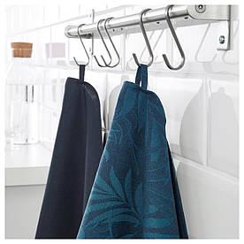 IKEA VILDKAPRIFOL (903.656.27) Рушник кухонне, сині листя