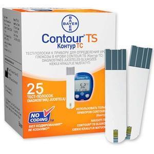 Тест-полоски для CONTOUR TS Bayer, 25 шт.