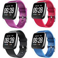 Смарт-часы Y7 умные часы фитнес браслет с металлическим корпусом и цветным экраном