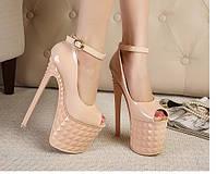 Туфли супер высокий каблук 19 см  3 цвета, фото 1