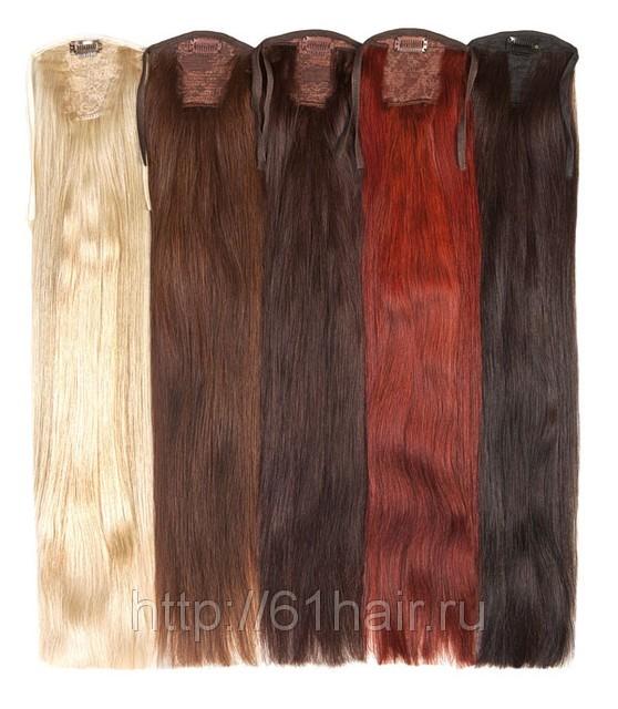 Натуральный накладной хвост из славянских волос 65 см любого оттенка 120 грамм