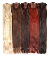 Натуральный накладной хвост из славянских волос 65 см любого оттенка 120 грамм, фото 1