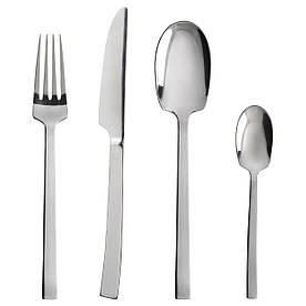 IKEA SMAKGLAD (103.045.34) Набор столовых приборов, 24 шт., Нержавеющая сталь