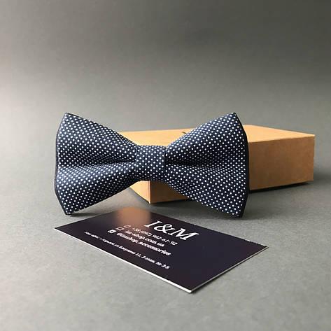 Галстук-бабочка I&M Craft синий в горошек (010514) , фото 2