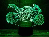 """Детский ночник - светильник """"Мотоцикл 4""""  3D TOYSLAMP"""