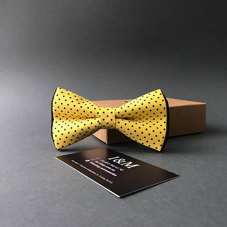 Краватка-метелик I&M Craft в жовтий горошок (010504), фото 2