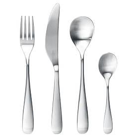 IKEA BEHAGFULL (203.042.32) Набор столовых приборов, 24 шт., Нержавеющая сталь