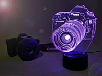 """Детский ночник - светильник """"Фотоаппарат"""" 3DTOYSLAMP"""