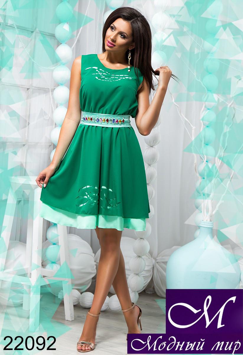 2505723b0b3 Красивое летнее платье зеленого цвета (р. 42-44