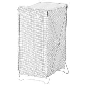 IKEA TORKIS (903.199.75) Кошик для білизни, білий/сірий