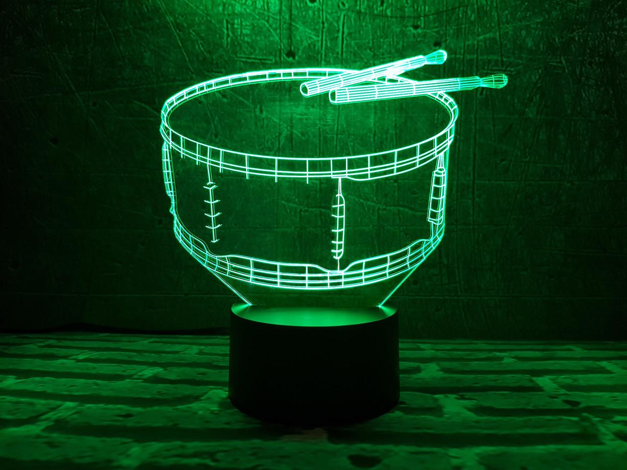 """Детский ночник - светильник """"Барабан"""" 3DTOYSLAMP"""