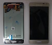 Оригинальный дисплей (модуль) + тачскрин (сенсор) Samsung Galaxy Alpha G850F G850L G850M G850K G850S (золотой)