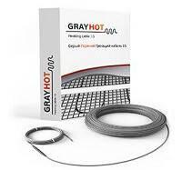 Нагревательный кабель двухжильный GRAY HOT  498 Вт 3,4 м² , 34 м