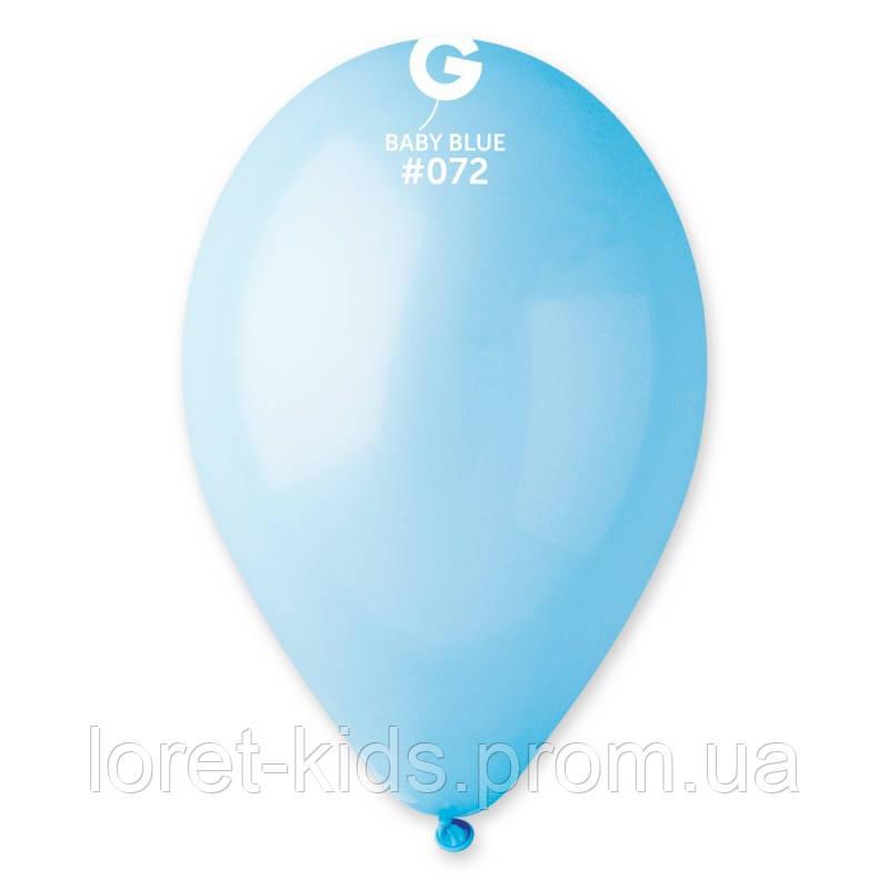 """Пастель нежно голубой 12"""" (30 см). Шарики воздушные латексные  ТМ Gemar"""
