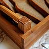 """Хлебницца для сервироки, деревянная """"Француз"""" Дуб Lasco 220мм х 140мм x 80мм 6304d-SCL, фото 4"""