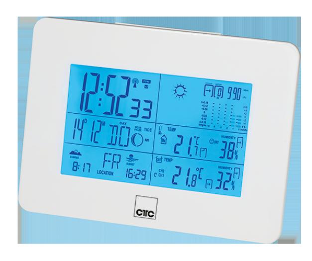 Метеостанция CLATRONIC WSU 7026 белая
