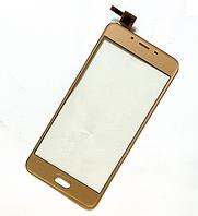 Оригинальный тачскрин / сенсор (сенсорное стекло) для Meizu U10 (золотой цвет)