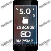 """Смартфон LEAGOO Power 2 золотого цвета 2/16gb Quad Core 5.0"""" , фото 2"""