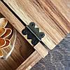 Счетница чекбук чекница для официанта для ресторана и кафе Шкатулка для счетов и чеков из дерева коробка Lasco, фото 5
