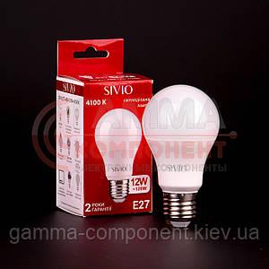 Светодиодная лампа SIVIO A60 12W, E27, 4100K, нейтральный белый
