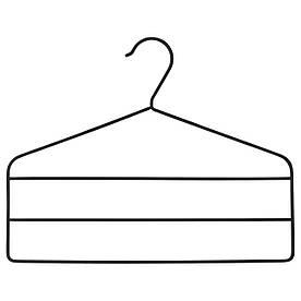 IKEA STRYKIS (703.170.67) Вішалка для штанів, чорний