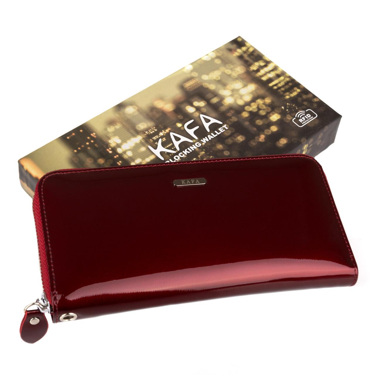 19fff355d016 Кошелек женский кожаный Kafa RFID BC74 красный: продажа, цена в ...