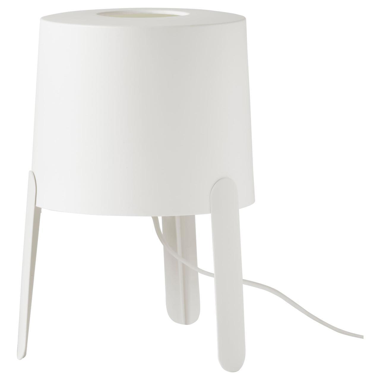 IKEA TVARS (203.561.36) Настольная лампа белого цвета