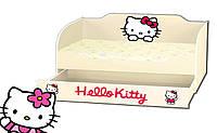 Кровать для девочки с ящиком серия Kinder Cool Hello Kitty