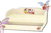 Кровать для девочки с ящиком серия Kinder Cool Феи