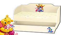 Кровать для девочки с ящиком серия Kinder Cool Winnie the pooh