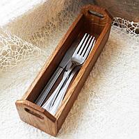 """Лоток для столових приборів серії """"Дерев'яна Корзинка"""" LAS 240 х 70 х 60 мм 6206d-SCL"""