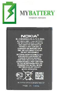 Оригинальный аккумулятор АКБ батарея для Nokia 1800/ 113/ 1280/ 1616/ C1-02/ BL-5CB 800мAh 3.7V