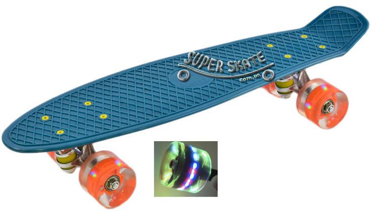 """Penny Board Pink 22"""" - Бирюзовый 54 см пенни борд скейт, фото 2"""