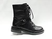Черные кожаные ботинки. Маленькие размеры (33 - 35)