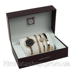 Круглые женские часы в подарочной упаковке ANNE KLEIN Анна Кляйн кварцевые