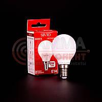 Светодиодная лампа SIVIO G45 6W, E14, 3000K, теплый белый, фото 1