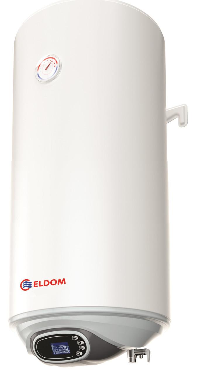 Электрический водонагреватель эмалированный Eureka 80 ECO Eldom вертикальный