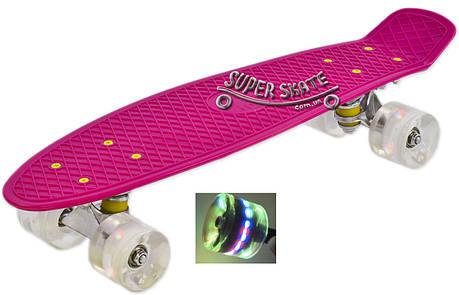 "Penny Board Pink 22"" - Pink 54 см пенни борд скейт, фото 2"