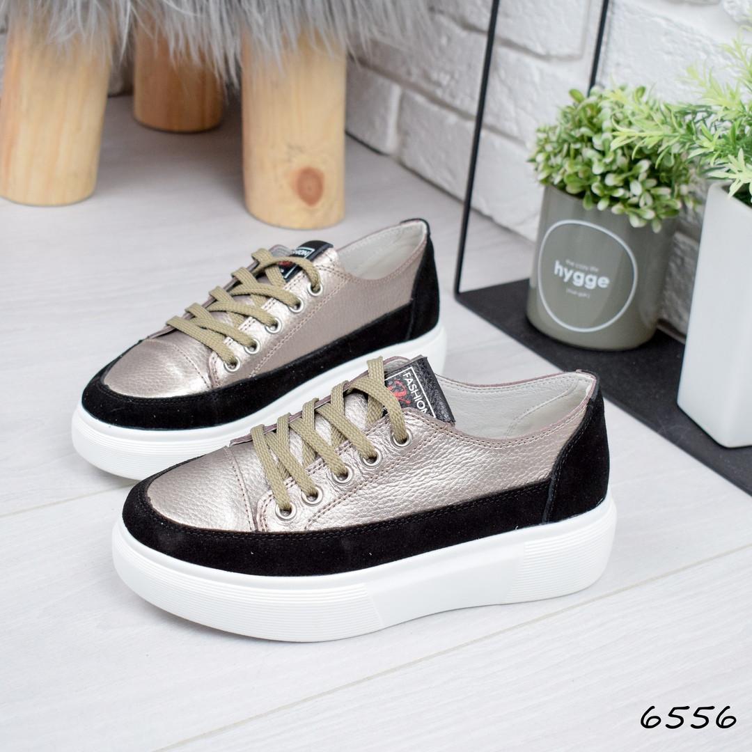 2b2514ab Купить Кроссовок женский Miracle чёрный + бронзу женскую обувь по ...
