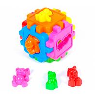 Куб-сортер Логический, с животными.Развивающий куб сортер.Игрушки для малышей.