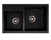 Кухонная мойка Metalac X-Granit Quadro Plus 2 D 171004 черный