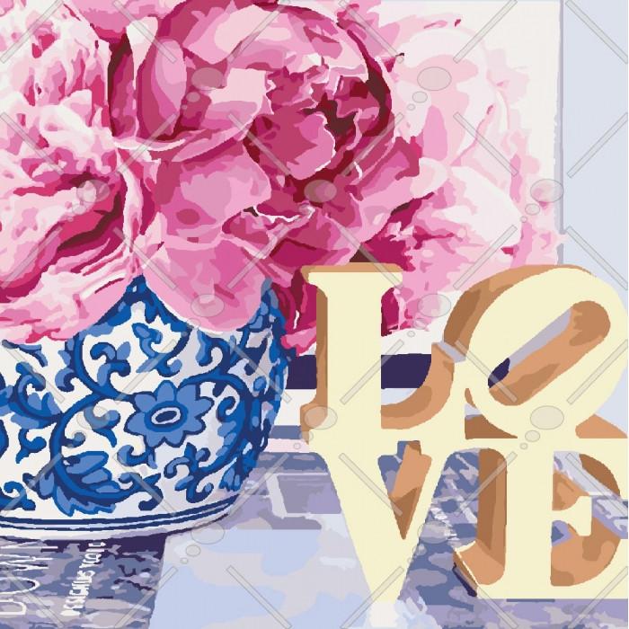 Картина по номерам Love, 40x40 см., Идейка