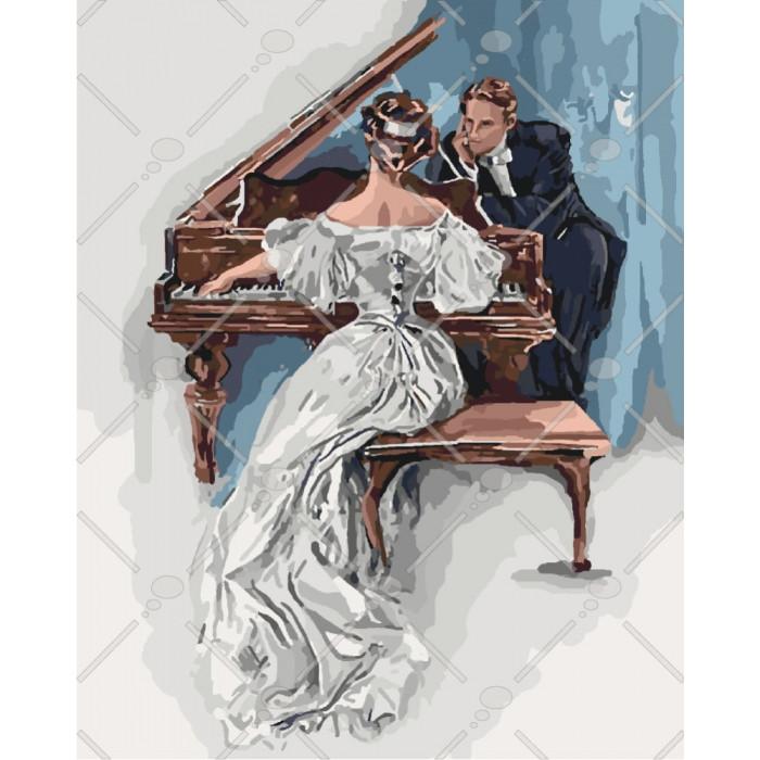 Картина по номерам Чарівна мелодія кохання, 40x50 см., Идейка